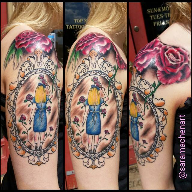 Looking glass chico lou 39 s fine tattoos for Looking glass tattoos