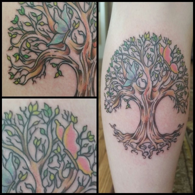 Storybook Tree of Life by Chico Lou's FIne tattoos in Athens, GA