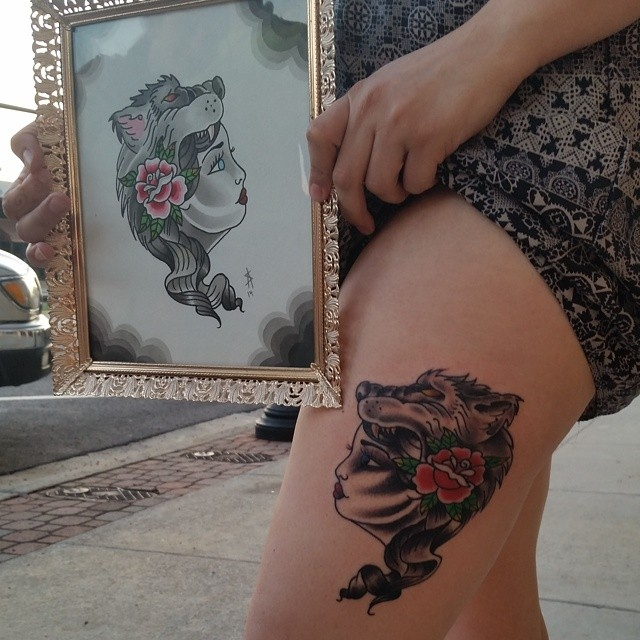 Custom artwork and tattoo by Chico Lou's Fine Tattoos in Athens, GA