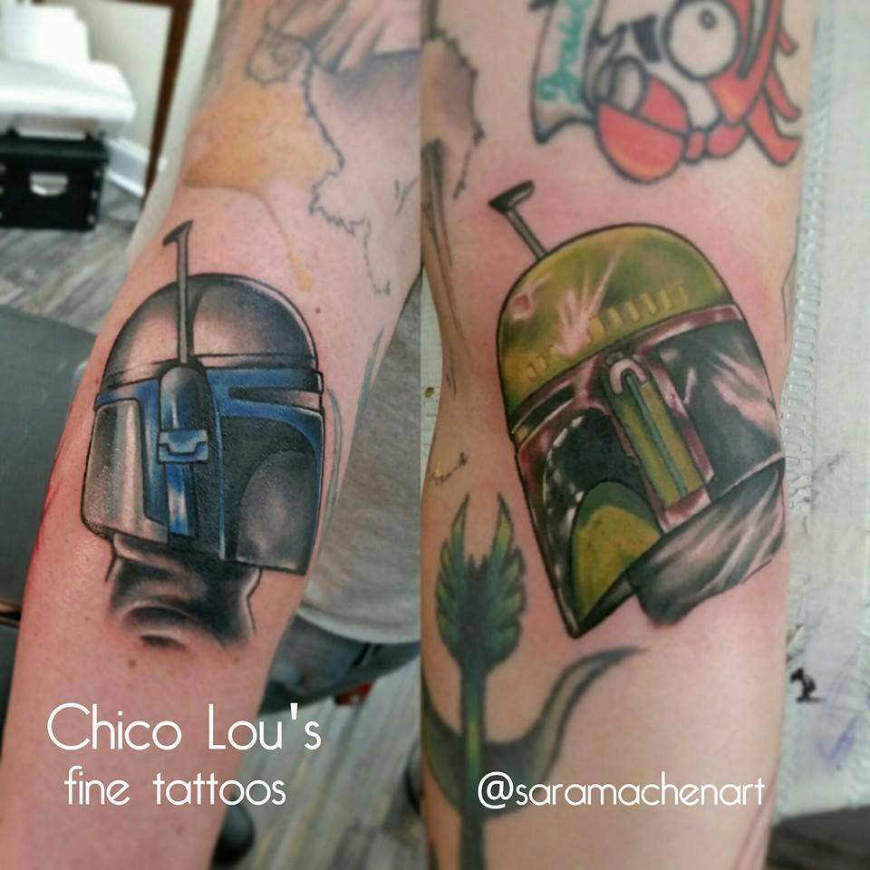 Boba Fett and Jango Fett by Chico Lou's Fine Tattoos in Athens Georgia