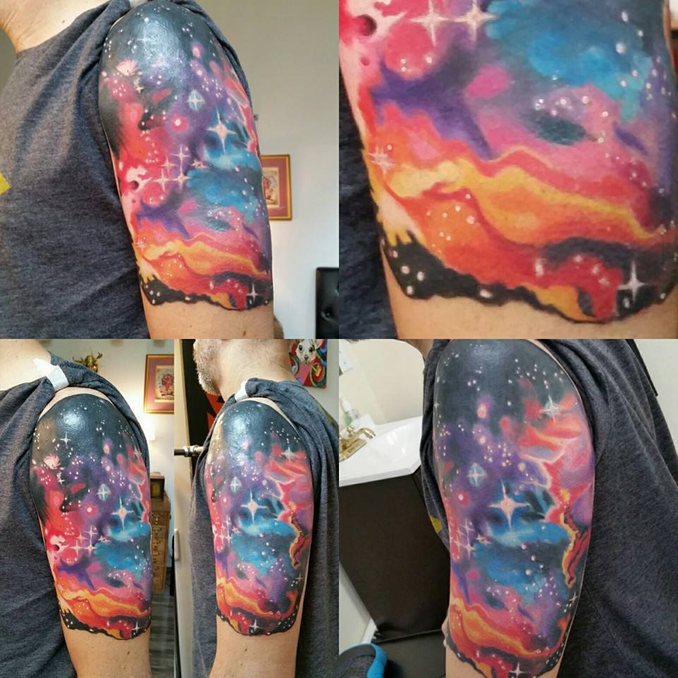 magnetic space cloud angles by Chico Lous FIne Tattoos in Athens Georgia GA