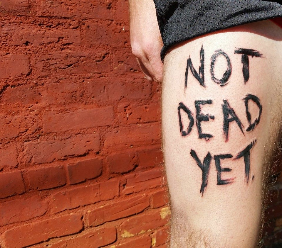 Not Dead Yet by Chico Lou's FIne Tattoos in Athens, Georgia