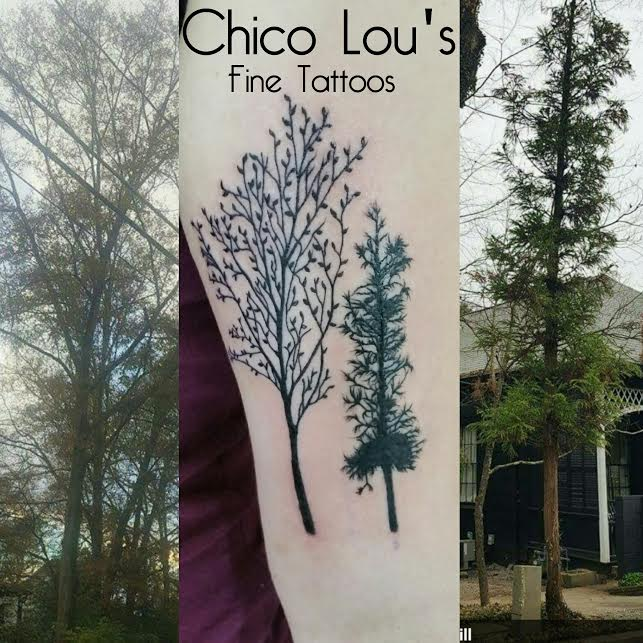 Athens trees by Chico Lou's Fine Tattoos in Athens Georgia GA