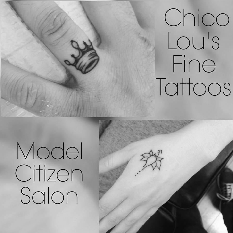 Delicate hand tattoos by Chico Lou's Fine Tattoos shop in Athens Georgia GA. Artist - Sara Fogle