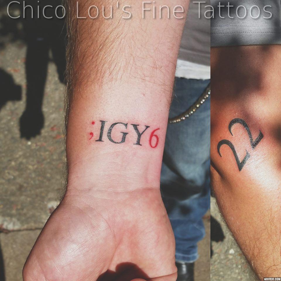 Semicolon igy6 by Chico Lou's Fine Tattoos shop in Athens Georgia GA. Artist - Sara Fogle