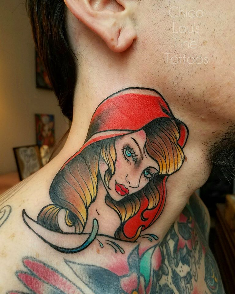 Little Red Riding Hood by Chico Lou's Fine Tattoos shop in Athens Georgia GA. Artist - Sara Fogle