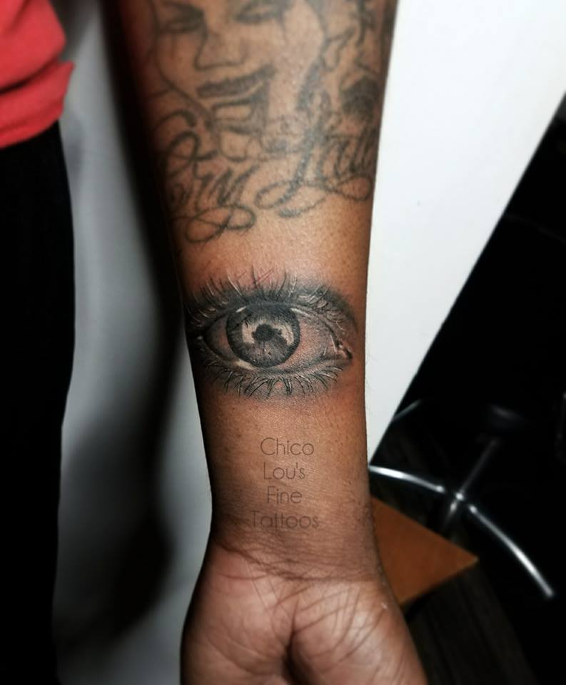 Eye by Chico Lou's Fine Tattoos shop in Athens Georgia GA. Artist - Sara Fogle