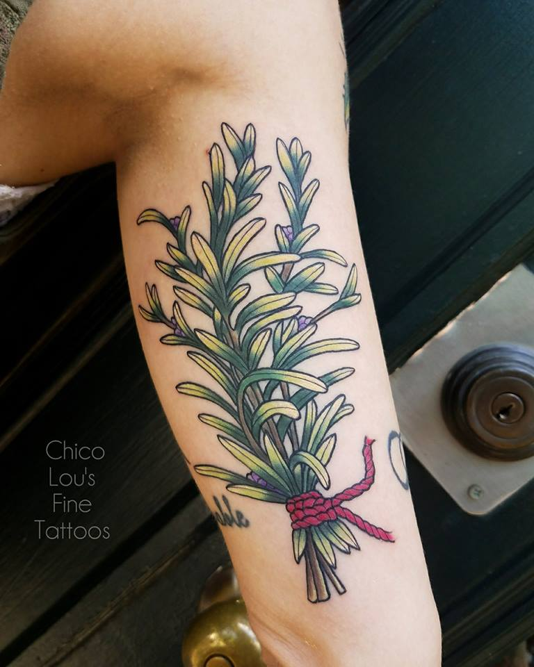 Rosemary by Chico Lou's Fine Tattoos shop in Athens Georgia GA. Artist - Sara Fogle