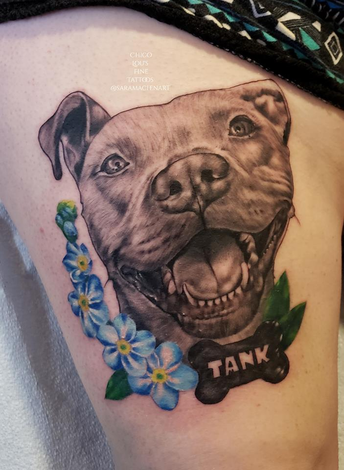 Tank by Chico Lou's Fine Tattoos shop in Athens Georgia GA. Artist - Sara Fogle