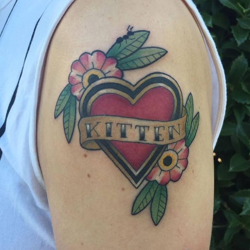 Memorial tattoo by Chico Lou's Fine Tattoos shop in Athens georgia GA. Artist - Darya Kalantari