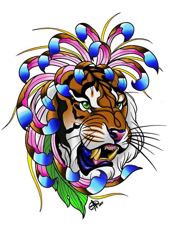 Social Distancing Tiger by Sara M Fogle