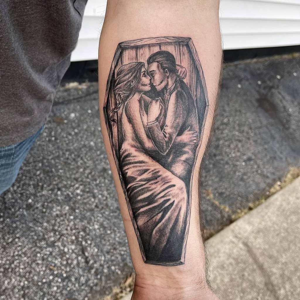 Eternal love by Chico Lou's Fine tattoos studio in Athens Georgia GA. Artist - Veronica Hahn