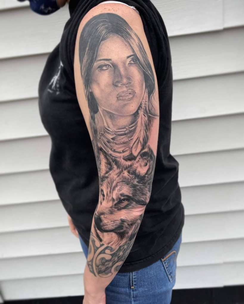 Sleeve by Chico Lou's Fien Tattoos studio in Athens Georgia GA. Artist - Veronica Hahn