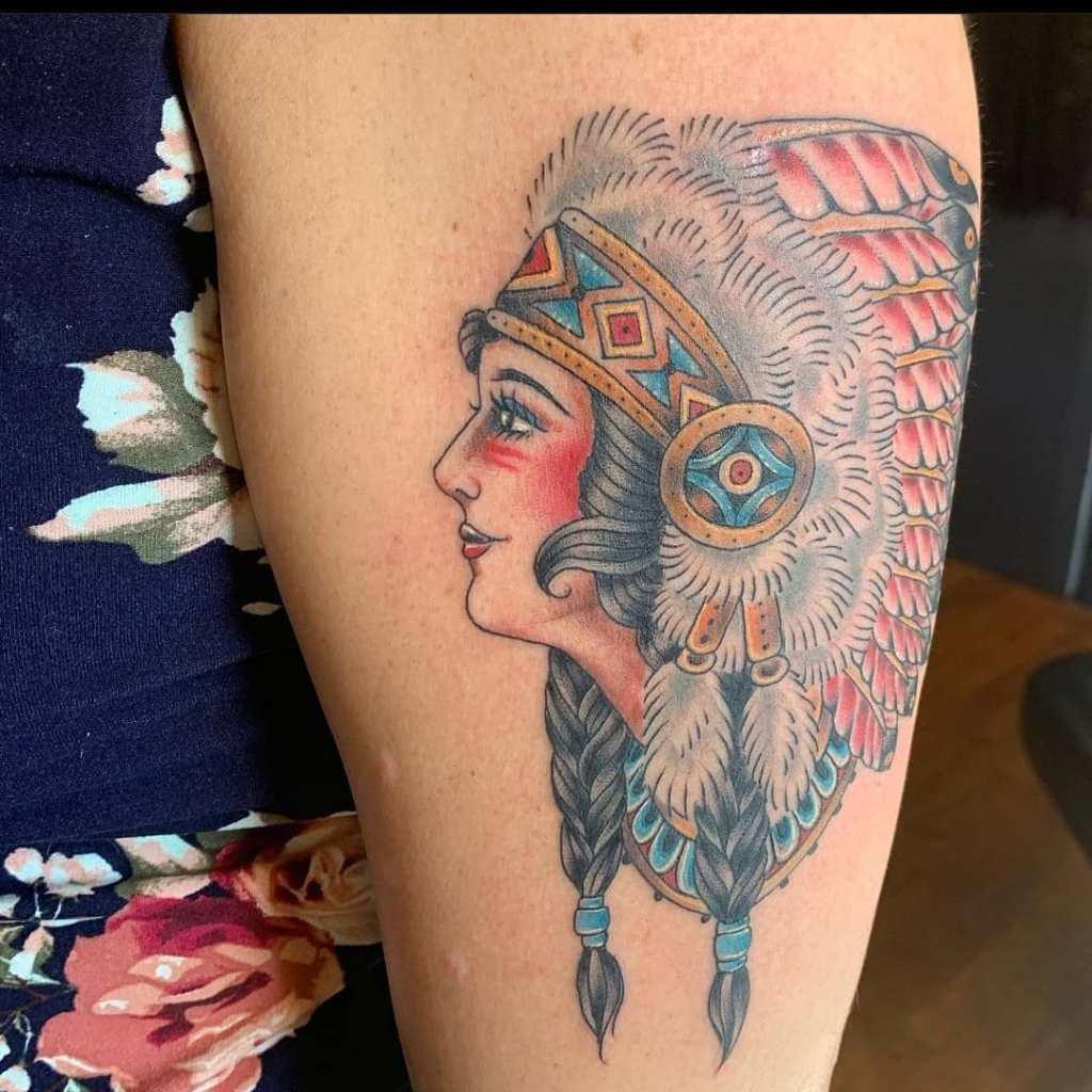 Traditional by Chico Lou's Fine tattoos studio in Athens Georgia GA. Artist - Jess Clark