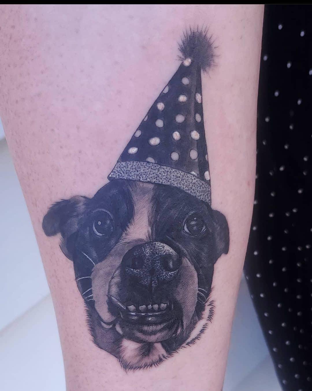Charlie by Chico Lou's Fine Tattoos studio in Athens Georgia GA. Artist - Sara Fogle